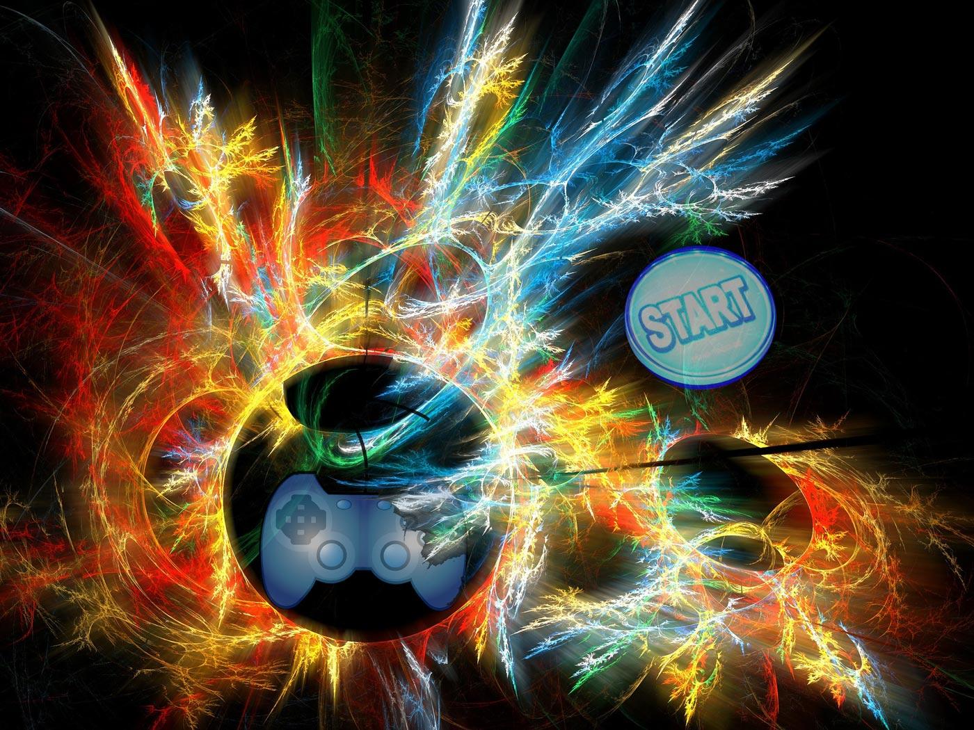 Raffigurazione delle emozioni dell'iniziare un nuovo videogioco.