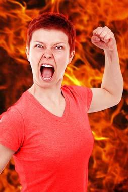 Una mamma arrabbiata.