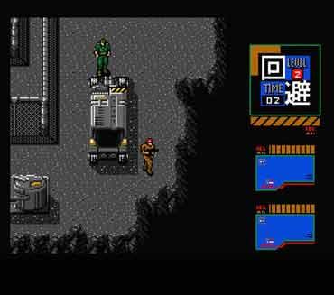 Metal Gear 2 su Msx, uno screenshot del gioco.