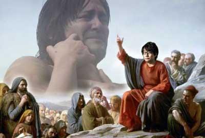 Un'immagine ironica di Kojima in versione Santa.