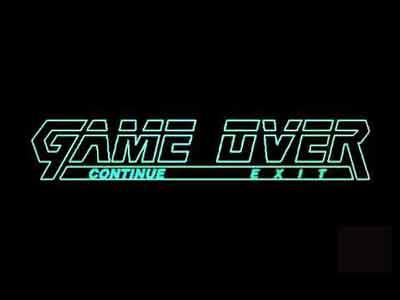 Schermata del Game Over di Metal Gear Solid su Play Station 1.
