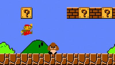 Super Mario emulato su Raspberry Pi.