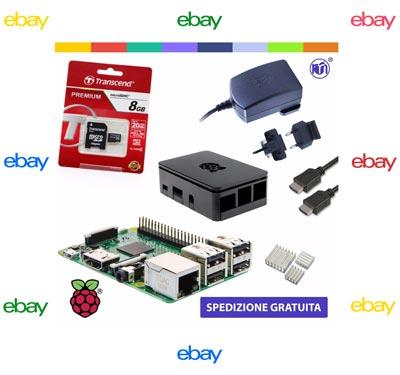 Il Raspberry Pi 3 in vendita su Ebay.