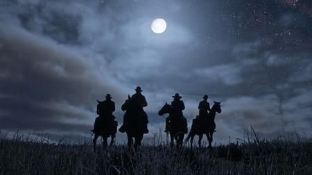 Red Dead Redemption 2 luci notturne.