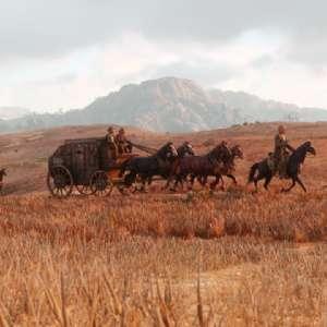 Read Dead Redemption 2 carro con cavalli.