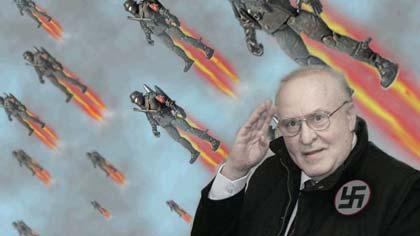 Call of Duty Futuristici, immagine ironica con jet pack.