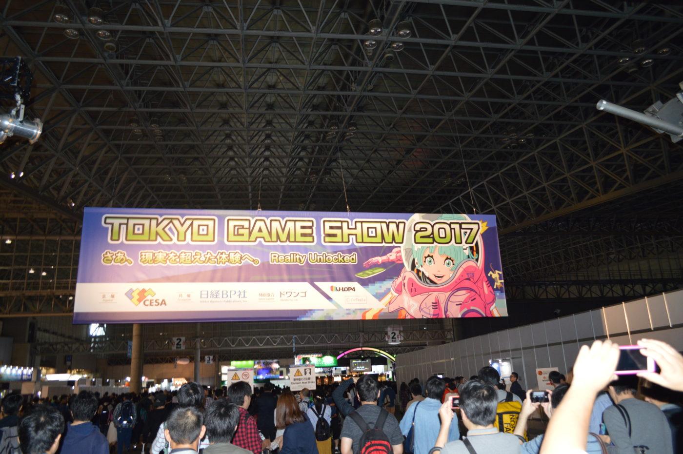 Tokyo Game Show 2017, foto dell'ingresso.