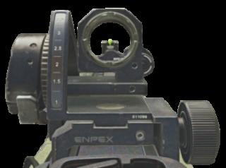 Mirino metallico del fucile MTAR-X su Call of Duty Ghost.