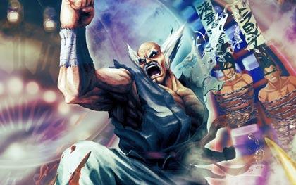 Immagine cartoon di Tekken con Heihachi arrabbiato.