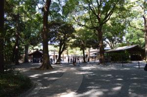 L'entrata del Santuario Meiji.