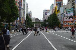 Foto della strada principale di Akihabara.