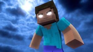 Minecraft personaggio misterioso.