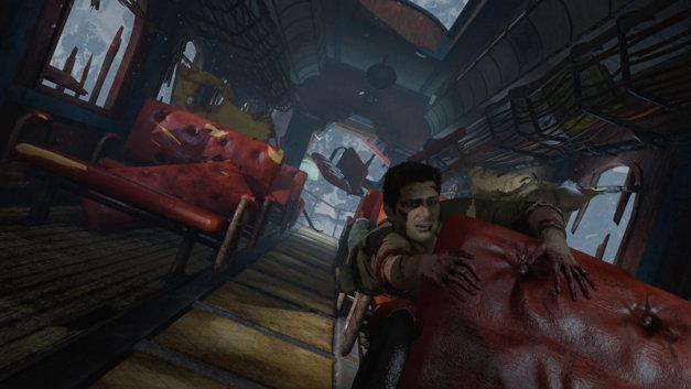 Treno precipita su Uncharted con Nathan senza memoria.