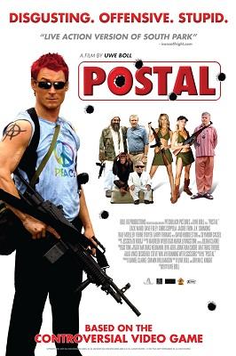 film tratti dai videogiochi - La locandina di Postal.