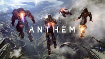 Anthem copertina videogioco.