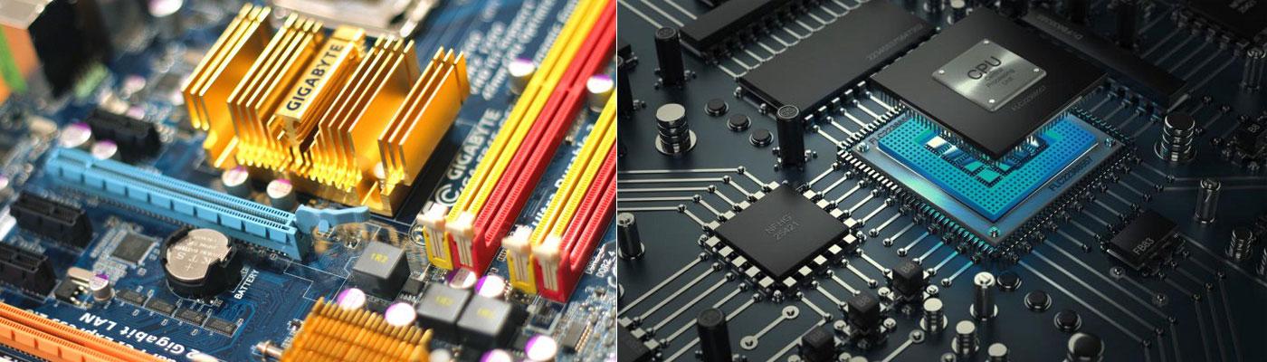 Scheda madre e processore per assemblare il proprio computer.