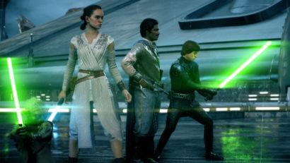 Eroi buoni in battaglia su Star Wars Battlefront II.