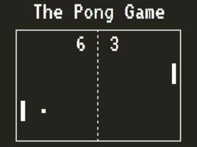 Immagine del gioco Pong.