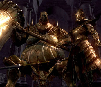 Ornstein e Smough boss Dark Souls.