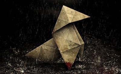 heavy rain, origami lasciato dal killer dopo un omicidio.
