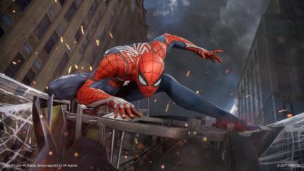 Un primo piano di Spider-Man.