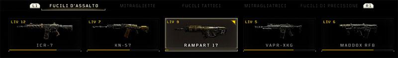 Immagine dei fucili d'assalto presenti nella beta di Black Ops 4.