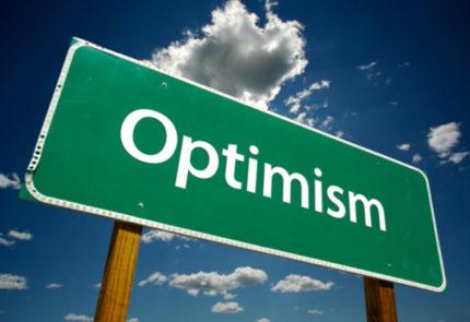 Un cartello sull'ottimismo.