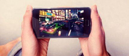 Foto di un videogioco su Smartphone.