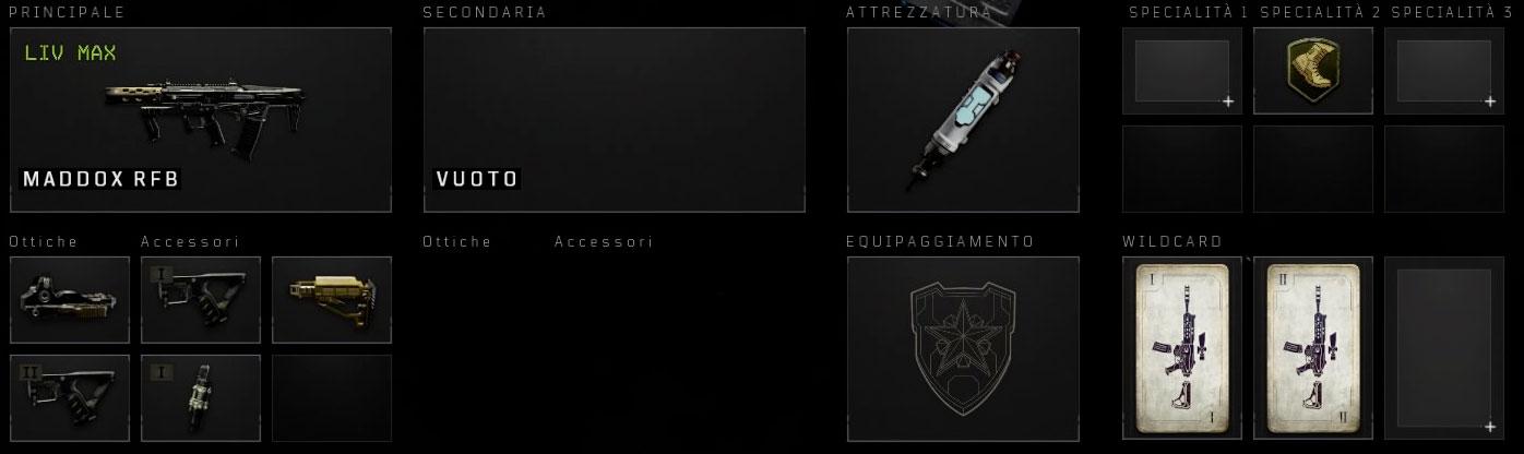 Black Ops 4 maddox setup